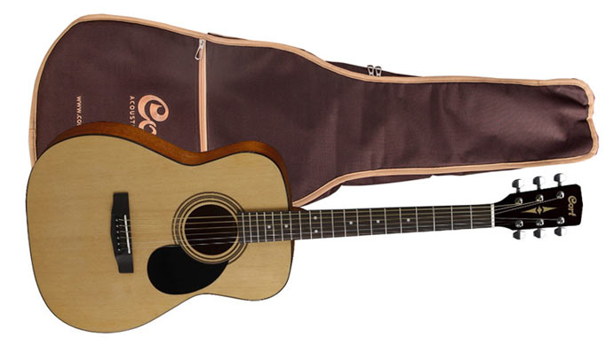Гитара с чехлом Cort AF510 NS bag