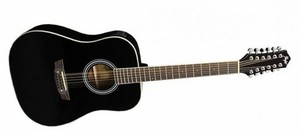 Гитара с экавлайзером и тюнером Flight D-200-12eq
