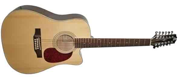 Двенадцатиструнная недорогая гитара Madeira HW-812