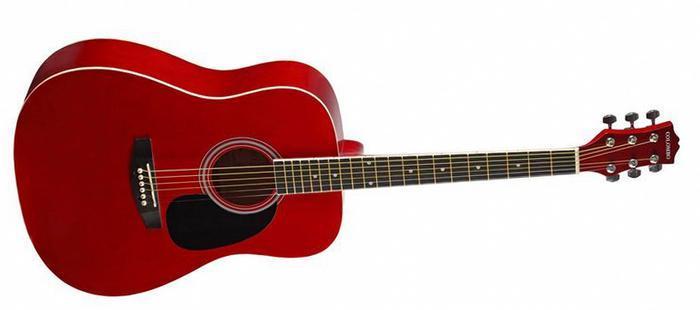 Акустическая гитара Colombo 4100 красная