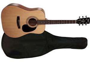 Акустическая гитара Cort AD-810 NAT с чехлом.
