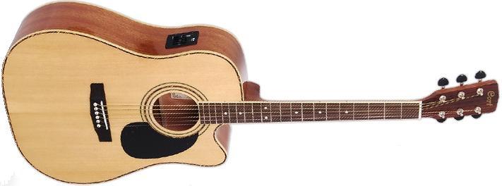 Электроакустическая гитара Cort AD 880CE NAT