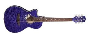 Акустическая гитара Luna FLO PF QM Lefty passionflowers