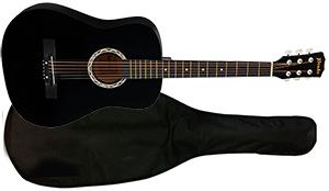 Акустическая гитара с чехлом 38