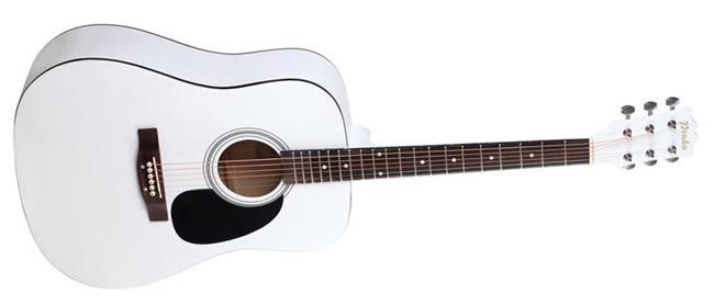 Белая акустическая гитара Prado  HS-4105  WH