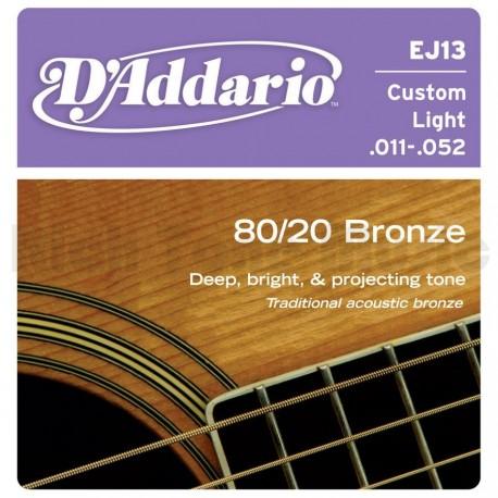 Струны D'ADDARIO Bronze 80/20