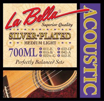 Струны La Bella Silver Plated