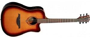 Акустическая гитара LAG T100DCE-BLK