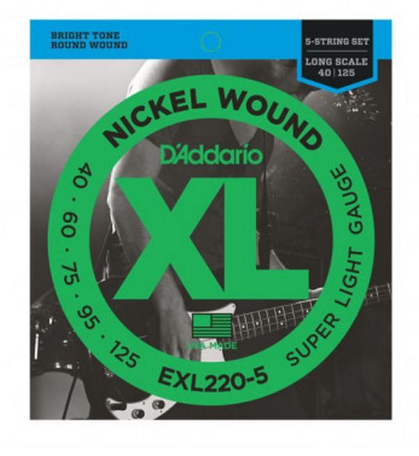 Струны D'ADDARIO EXL220-5