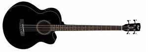Электро-акустическая бас-гитара Cort SJB5F-BK, черная