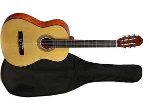 Классическая гитара с чехлом Phil Pro AC-39 NAT BAG
