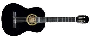 Классическая гитара 4/4 Veston C-45A BK, с анкером