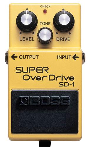 Педаль лампового перегруза Boss SD-1