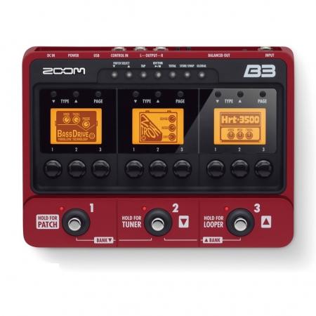 Басовый процессор эффектов Zoom B3