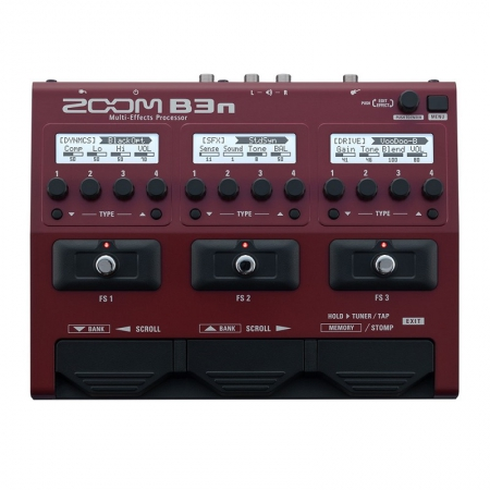Басовый процессор мультиэффектов Zoom B3n