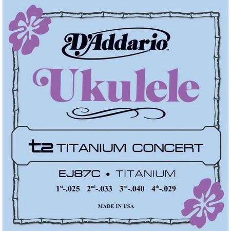 Струны для укулеле концерт D\'Addario EJ87C