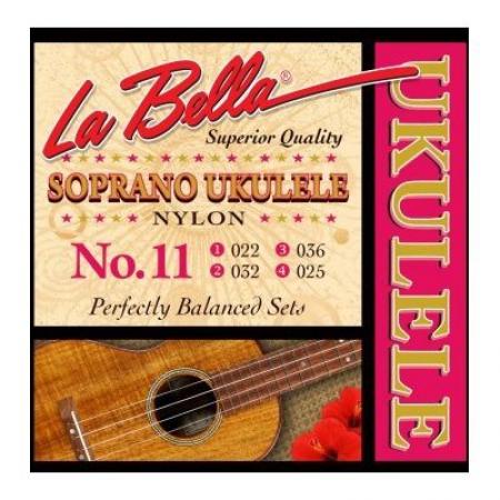 Струны для укулеле сопрано La Bella Ukulele 11