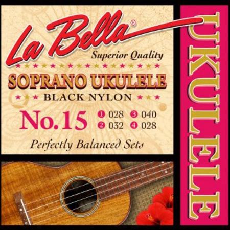 Струны для укулеле - сопрано LaBella Ukulele 15