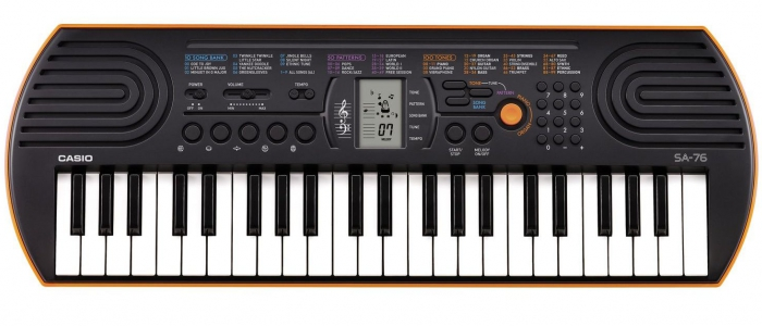 Синтезатор для маленьких детей. Casio SA-76