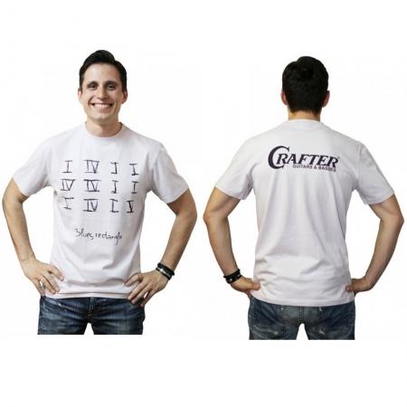 Белая футболка Cfafter Blues rectangle