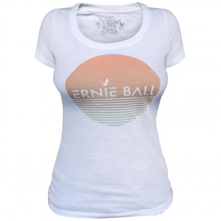 Женская белая футболка Ernie Ball Beach 4710-13
